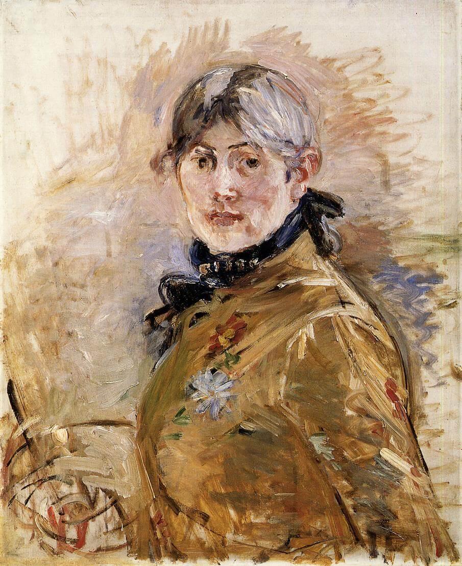 """""""Autorretrato"""", de Berthe Morisot"""
